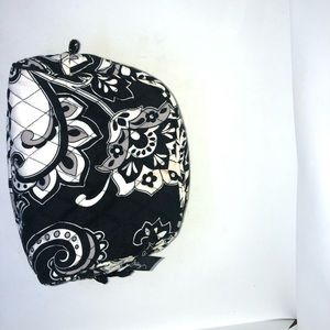 Vera Bradley Cosmetic Bag Black White Paisley